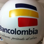 Esfera de Helio Inflable Publicitario Bancolombia 2