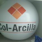 Esfera de Helio Inflable Publicitaria Col-Arcilla