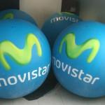 Esferas de Helio Inflables Publicitarias Movistar