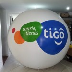 Esfera de Helio Inflable Publicitaria Tigo